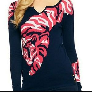 Lilly pulitzer tiger navy charter sweater small